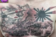 Tatouage scène Pearl Harbor
