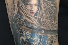 Tatouage femme samouraï