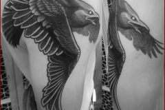 celtic viking nordic raven tattoo