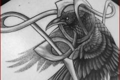 celtic viking nordic raven tattoo cover