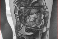 engraving blackwork tattoo 5