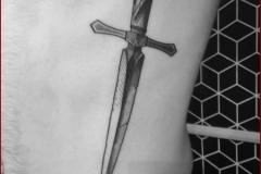 engraving blackwork tattoo 7