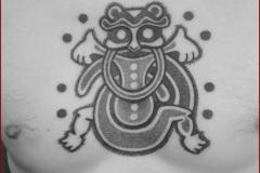 handpoke tattoo tatouage dotwork viking nordic