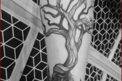tree tattoo dotwork