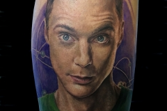 Sheldon tattoo portrait