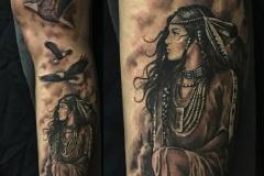 tatouage indienne aigle