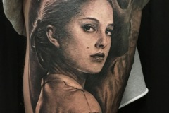 tatouage portrait star wars padme