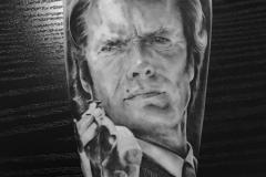 tattoo portrait clint eastwood