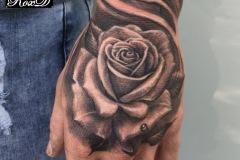tattoo rose hand